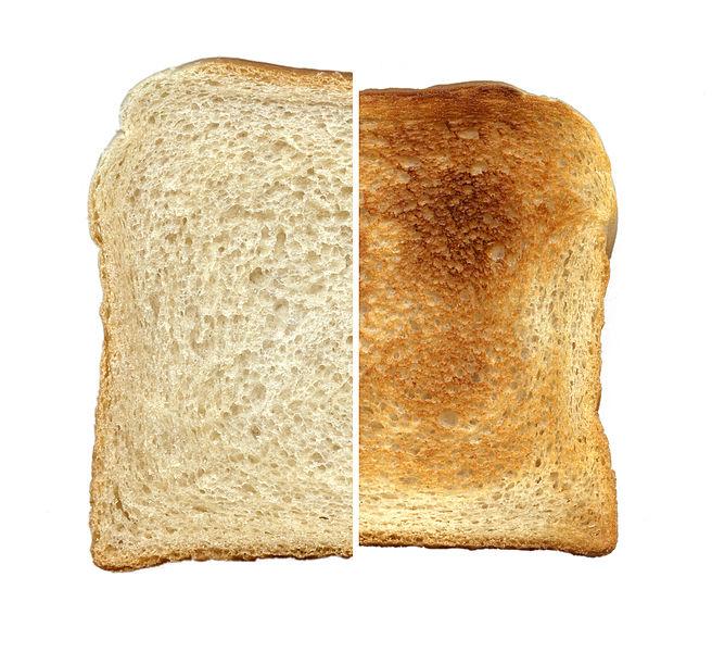Ma devise: Toujours voir le pain à moitié grillé.